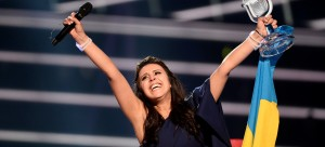 Ukraine's Jamala reacts on winning the Eurovision Song Contest final at the Ericsson Globe Arena in Stockholm